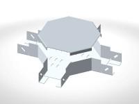 Короб кабельный крестообразный СК